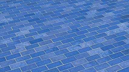 Ziegelstein-Textur blau diagonal