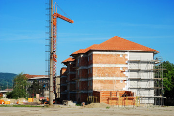 block under construction