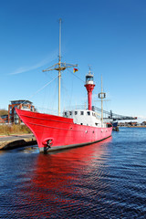 Feuerschiff Weser in Wilhemshaven, Deutschland