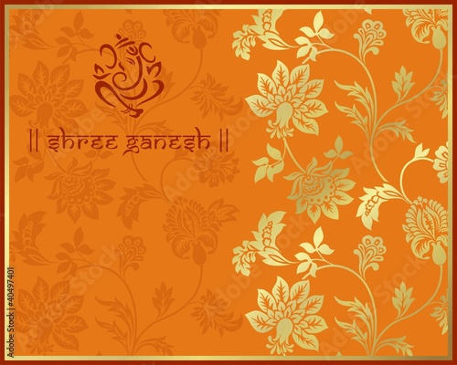 Ganesha traditional Hindu wedding card design India image – Indian Traditional Wedding Cards