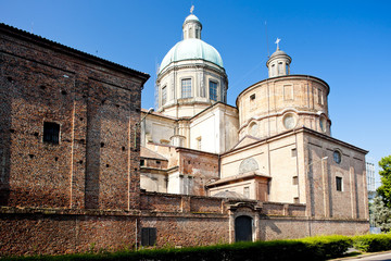 Fototapete - cathedral in Vercelli, Piedmont, Italy