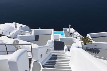 Typical architecture design at Santorini island