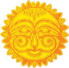 Personalized sun. Motives of Slavonic mythology.