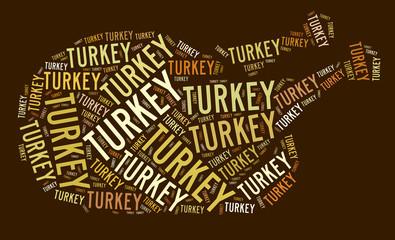 Roast turkey graphic text illustration