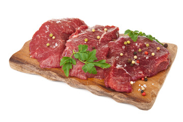 raw beef isolated