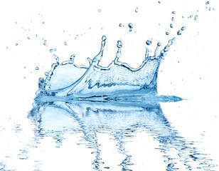 Water splash, isolated on white background.