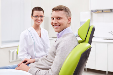 The patient at the dentist