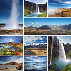 Printed kitchen splashbacks Pole Impressions of Iceland