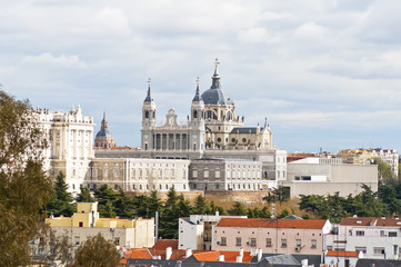 View of the city of Madrid