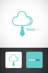 Dream jobs, conceptual icon design