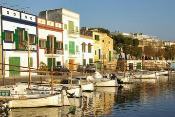 Fond de hotte en verre imprimé Port Porto Colom Dock
