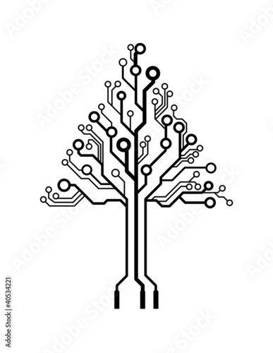u0026quot vector logo triangle circuit board tree u0026quot  stock image and
