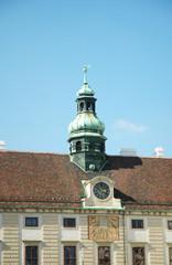 Cupola su un tetto di Vienna, Austria