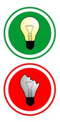 Dos bombillas creativas