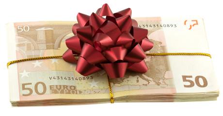 liasse billets paquet cadeau