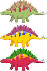 Photo sur cadre textile Dinosaurs Stegosaurus cartoon