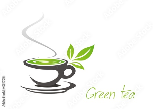 Green tea tea leaves business logo design stock image and green tea tea leaves business logo design thecheapjerseys Image collections