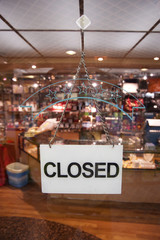 Closed Sign of Retail Shop