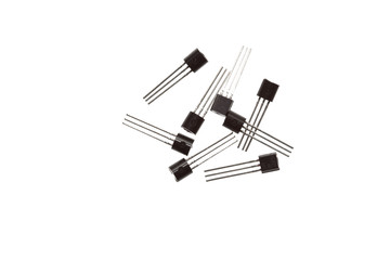 A bunch of transistors laying around