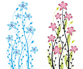 Two themed decorative flower