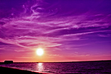 Photo sur Plexiglas Violet Busselton Jetty sunset