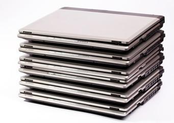 Laptop organized pile