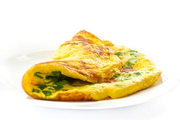 Fond de hotte en verre imprimé Ouf scrambled eggs with chives