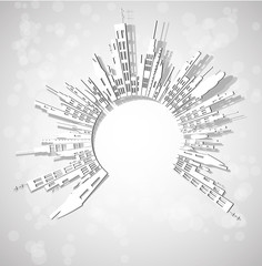 abstract city real estate vector
