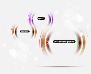 Abstract technology lines on light vector background
