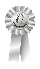 Silver Ribbon for 10th Anniversary
