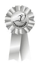 Silver Ribbon for 20th Anniversary