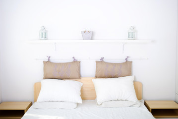 big white empty bed