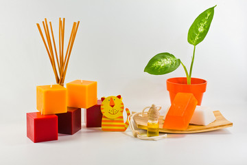 orange decorations for children's