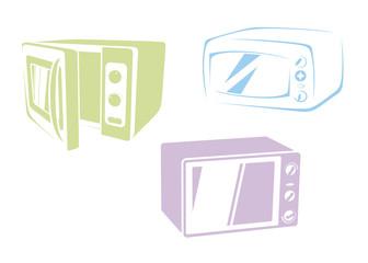 Microwaves set