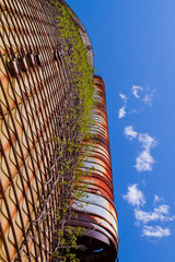 Vertical View of Silo