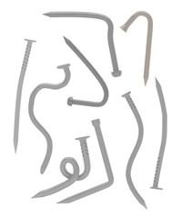 3d render of bended nails