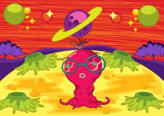 Poster de jardin Creatures space