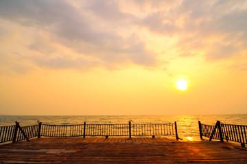 bridge on the sea
