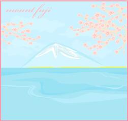 Fuji and morning sunrays