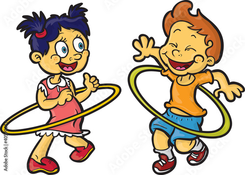 Quot Kids Playing Hula Hoop Quot Stock Image And Royalty Free
