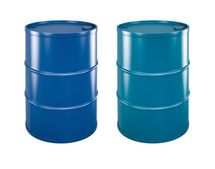 coloured steel barrels