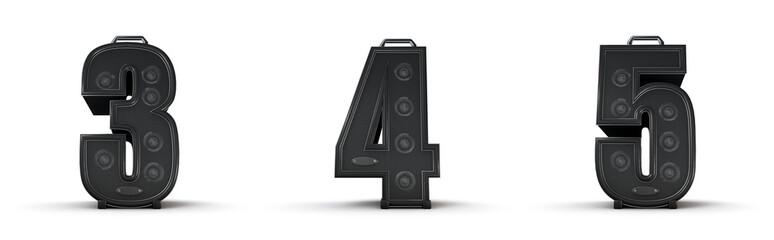 Sticker - Amplifier alphabet 3 4 5