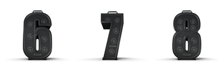 Sticker - Amplifier alphabet 6 7 8