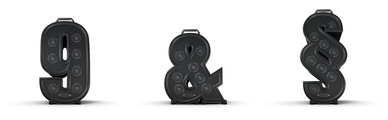 Sticker - Amplifier alphabet 9 ampersand section