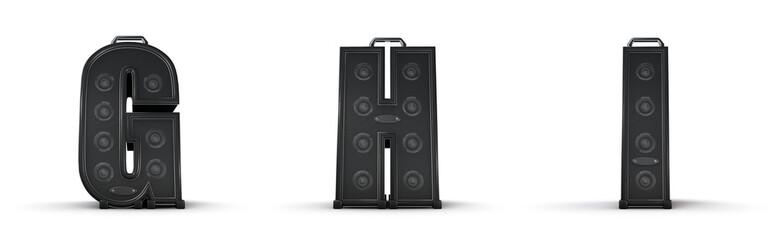 Sticker - Amplifier alphabet G H I