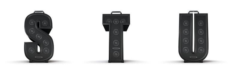 Sticker - Amplifier alphabet S T U