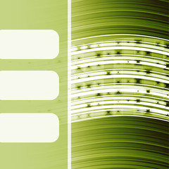 abstract background with a green curved lines