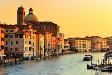 Obraz Kanał Grande w Wenecji, Włochy - fototapety do salonu