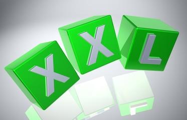 3D Fallende Wuerfel - XXL X