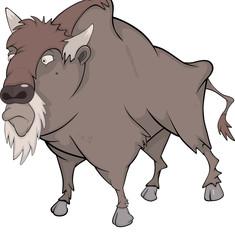 Bison, buffalo. Cartoon